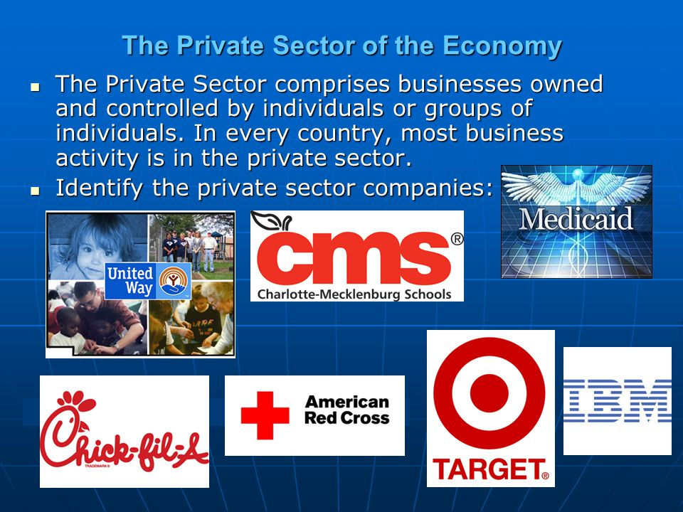 The Private Sector of the Economy