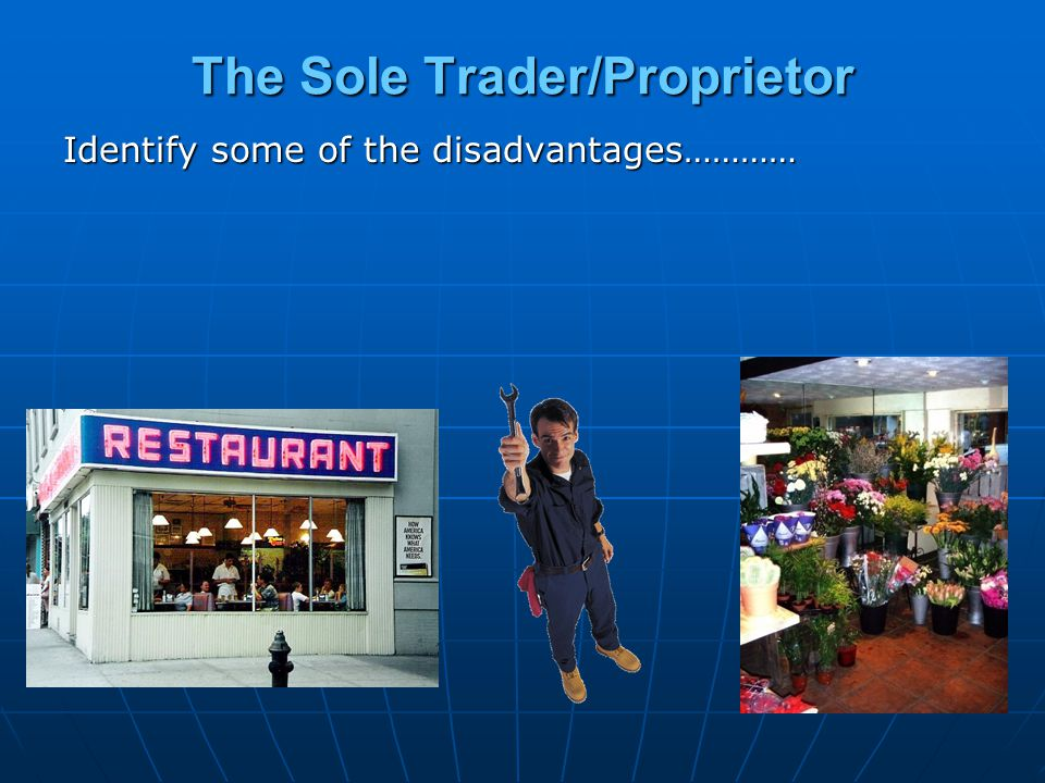 The Sole Trader/Proprietor