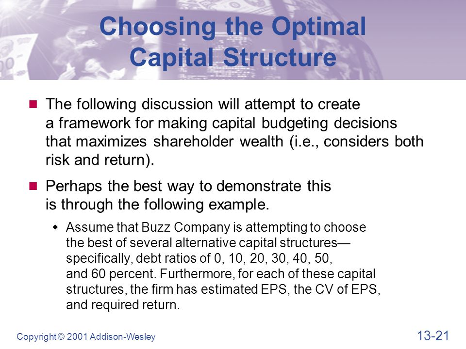 Choosing the Optimal Capital Structure