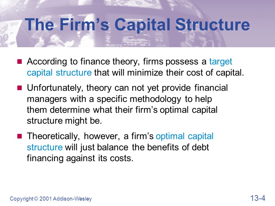 The Firm's Capital Structure