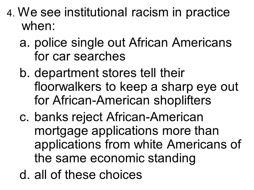 police single out African Americans for car searches