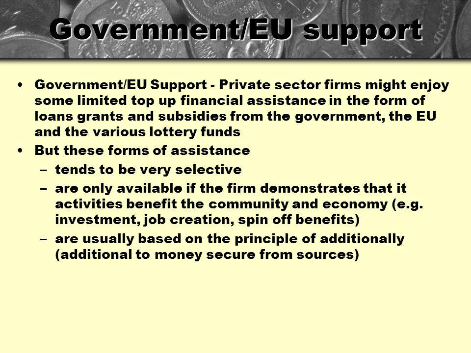Government/EU support