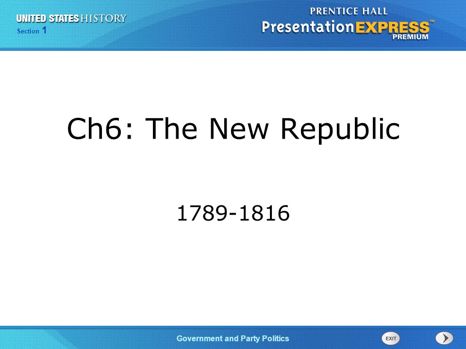 Ch6: The New Republic