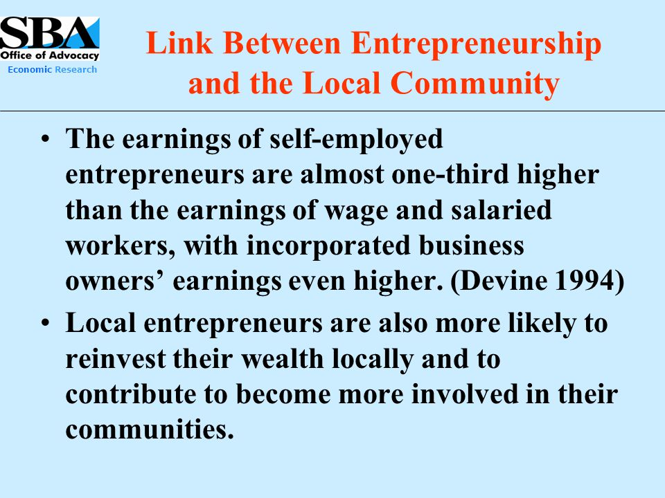 Link Between Entrepreneurship and the Local Community