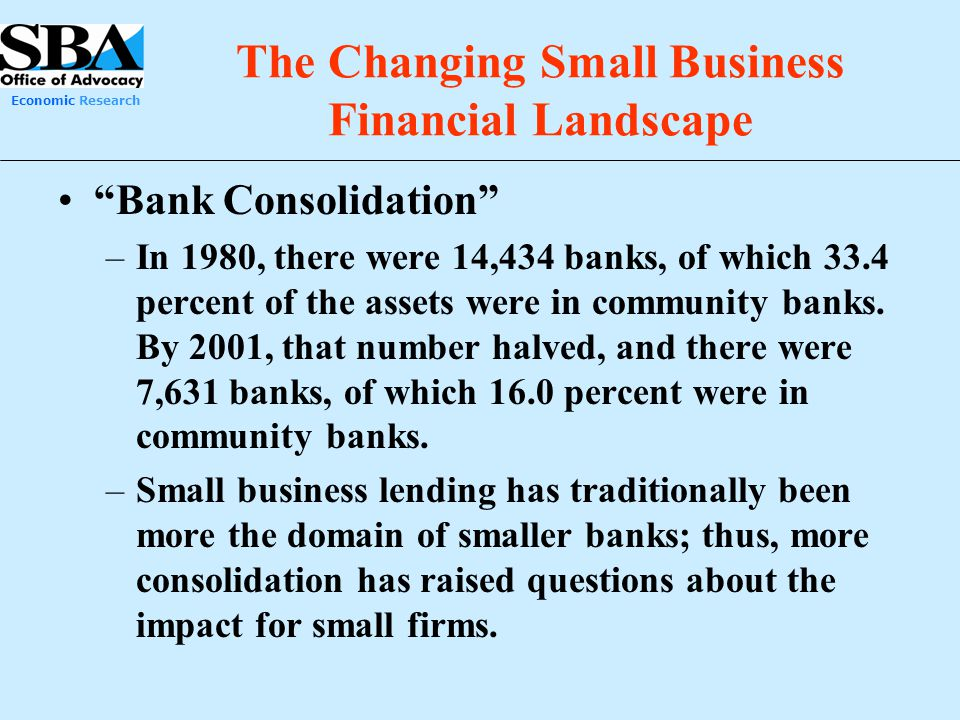 The Changing Small Business Financial Landscape