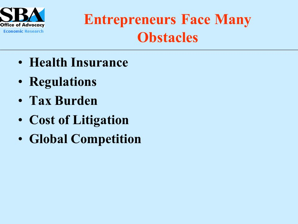 Entrepreneurs Face Many Obstacles