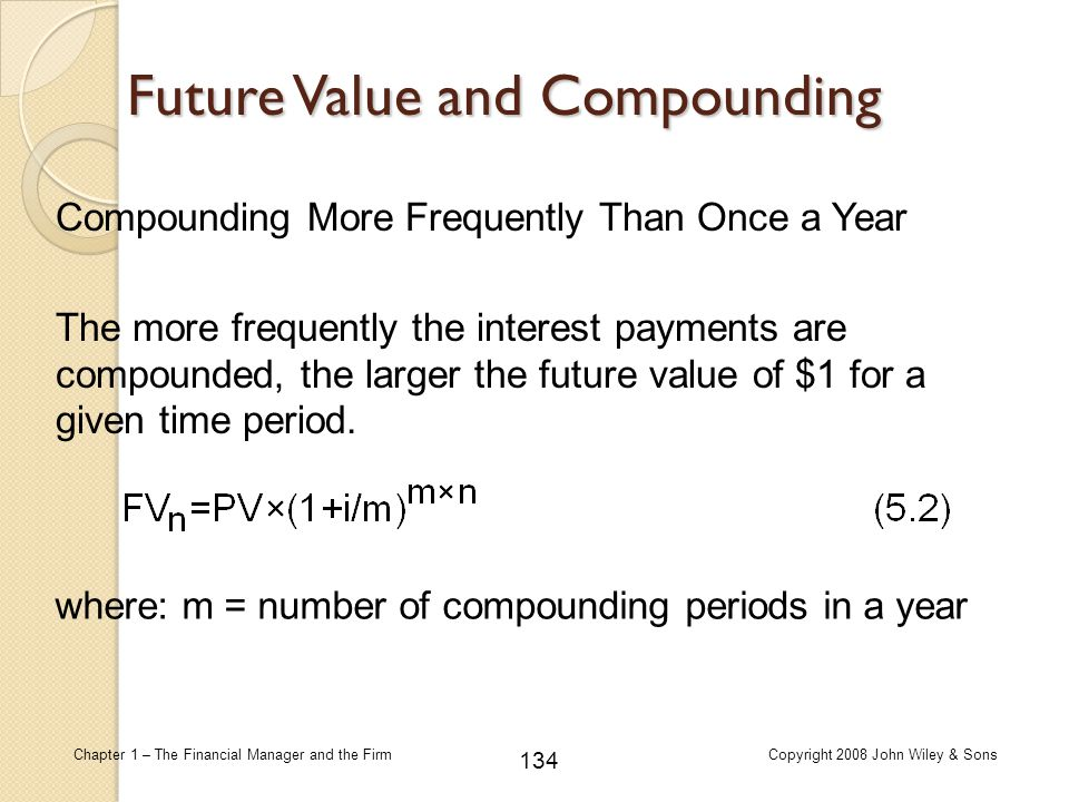 Future Value and Compounding