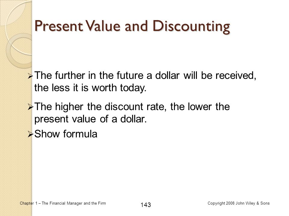 Present Value and Discounting