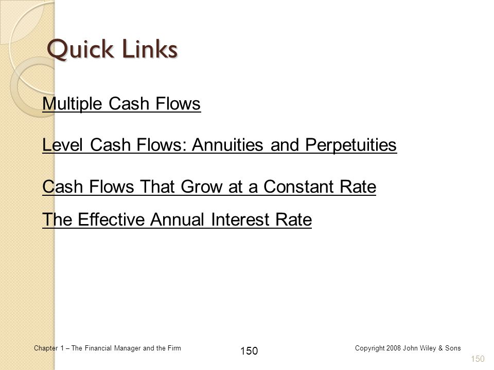 Level Cash Flows: Annuities and Perpetuities