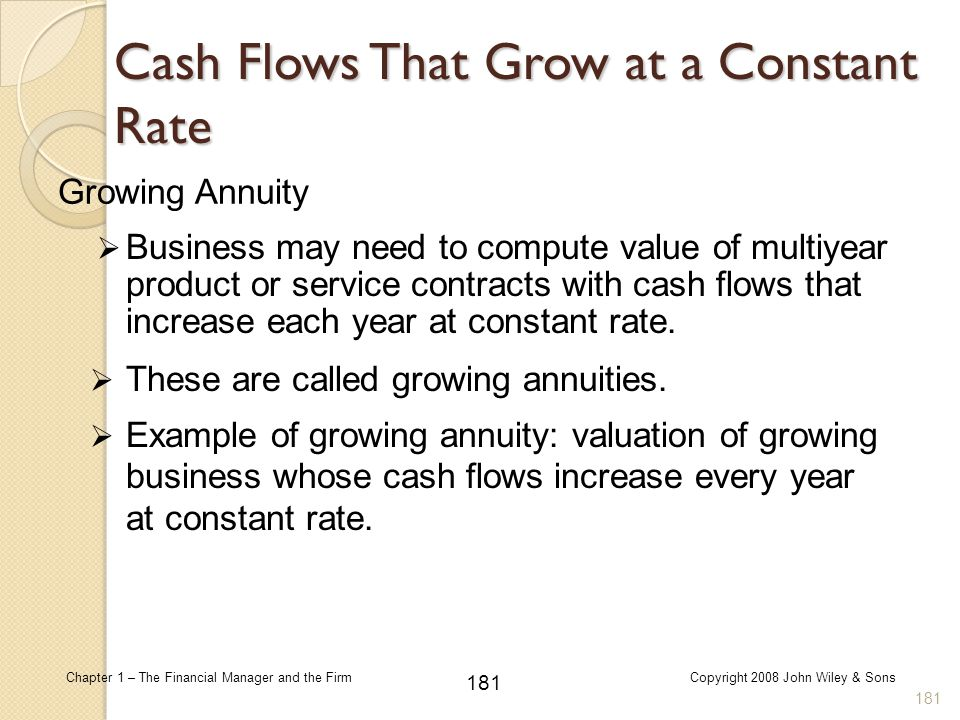 Cash Flows That Grow at a Constant Rate