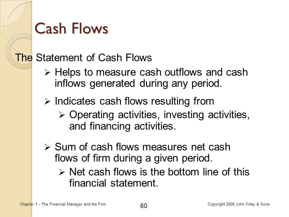 Cash Flows The Statement of Cash Flows