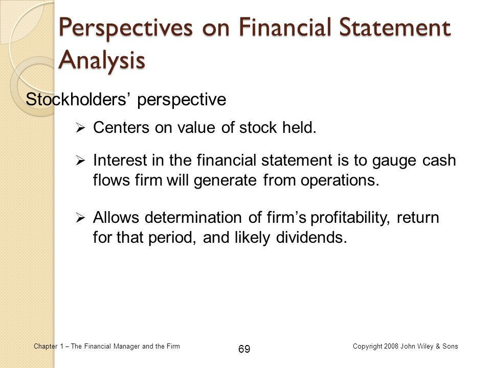 Perspectives on Financial Statement Analysis