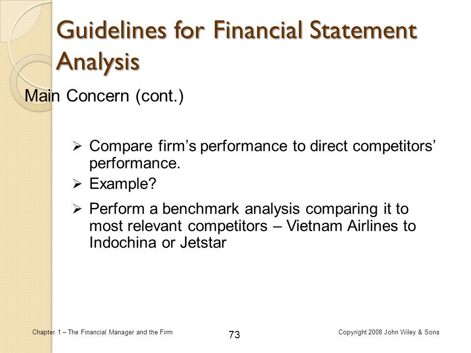 Guidelines for Financial Statement Analysis