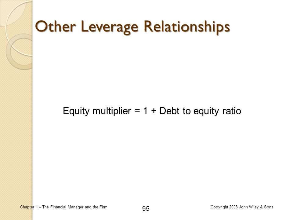 Other Leverage Relationships