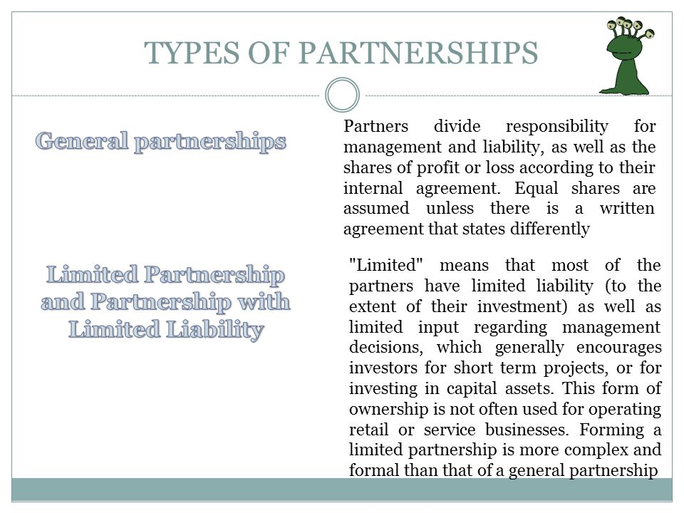 Limited Partnership and Partnership with Limited Liability
