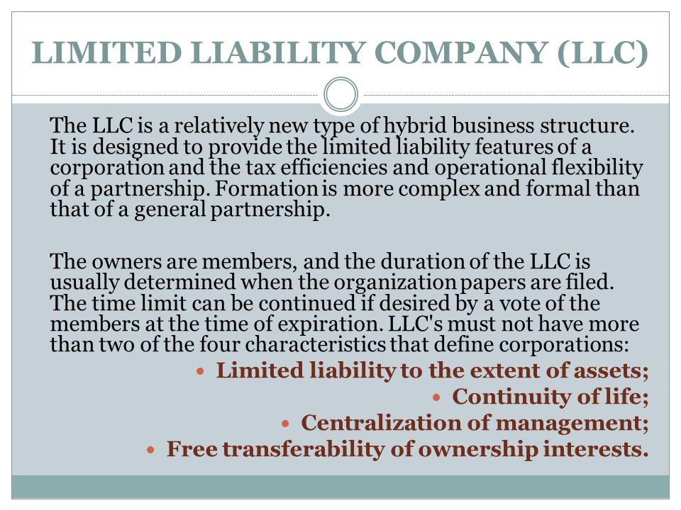 limited liability essay