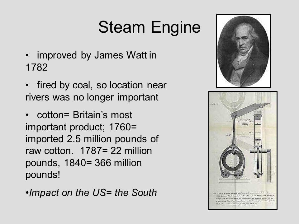 Steam Engine improved by James Watt in 1782