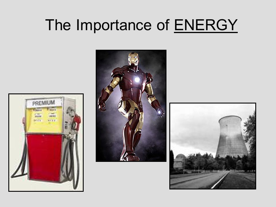 The Importance of ENERGY