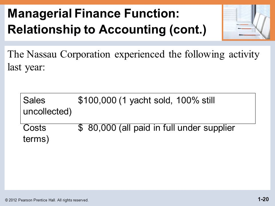 Managerial Finance Function: Relationship to Accounting (cont.)