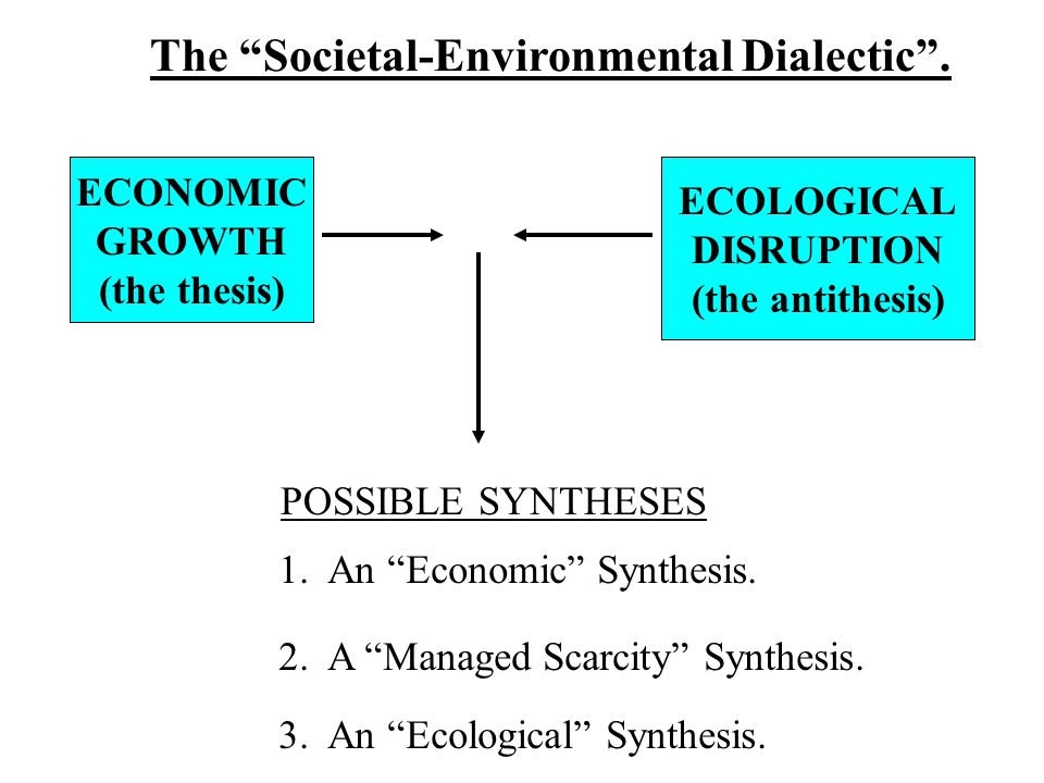 The Societal-Environmental Dialectic .