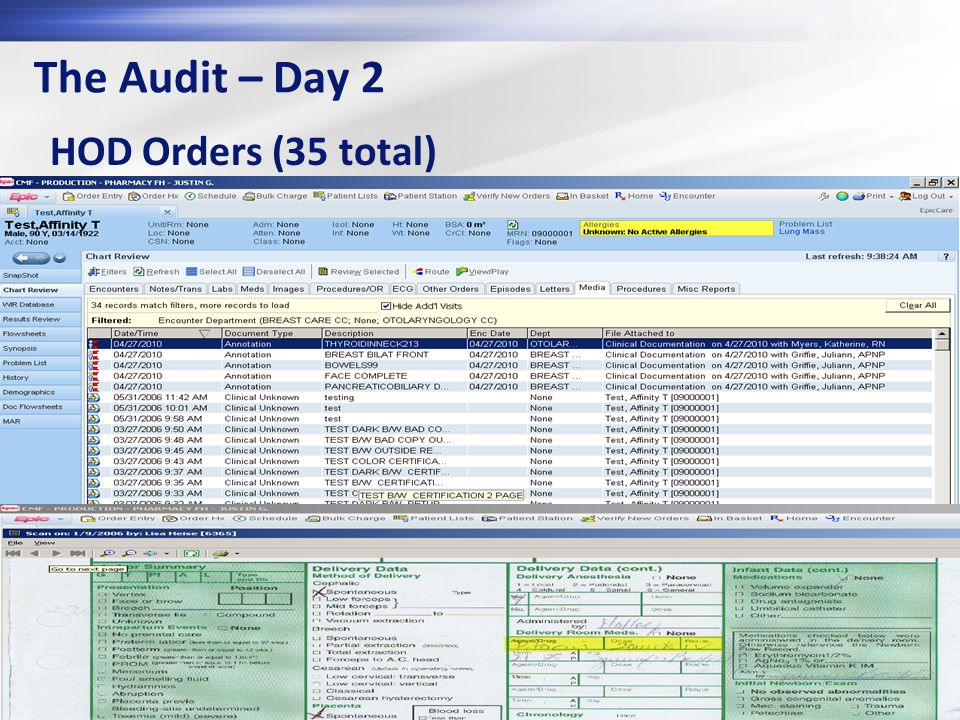 The Audit – Day 2 HOD Orders (35 total)