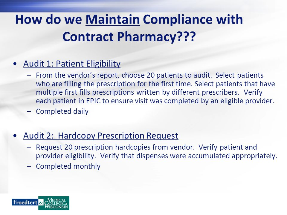 How do we Maintain Compliance with Contract Pharmacy