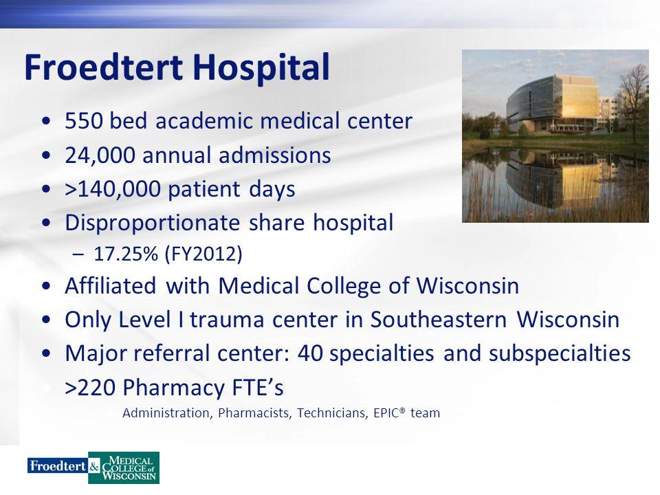 Froedtert Hospital 550 bed academic medical center