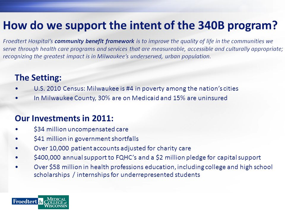 How do we support the intent of the 340B program