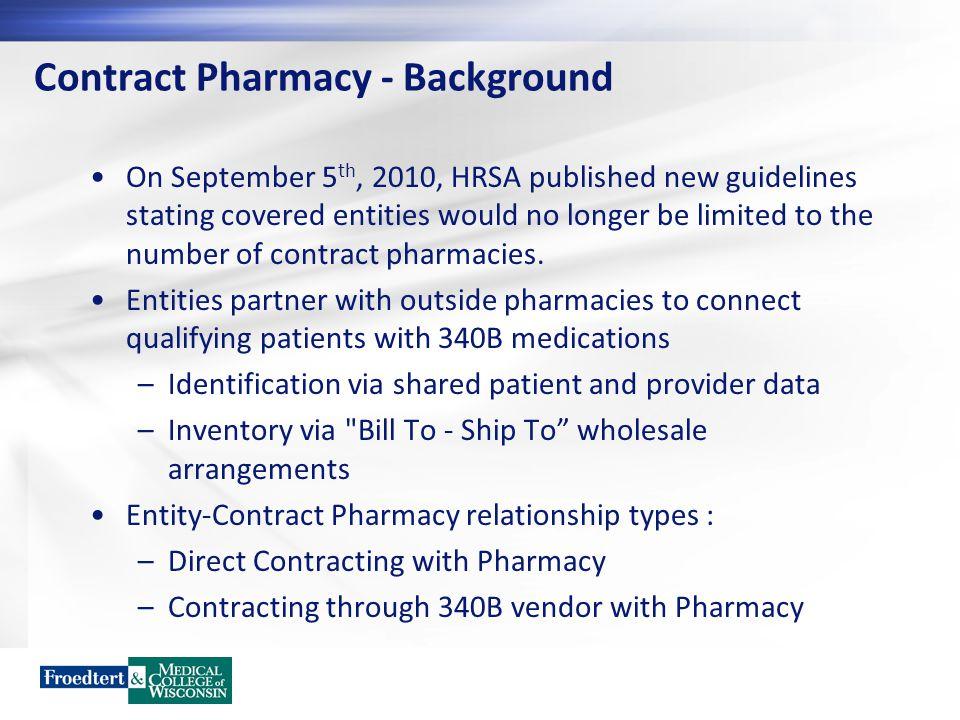 Contract Pharmacy - Background