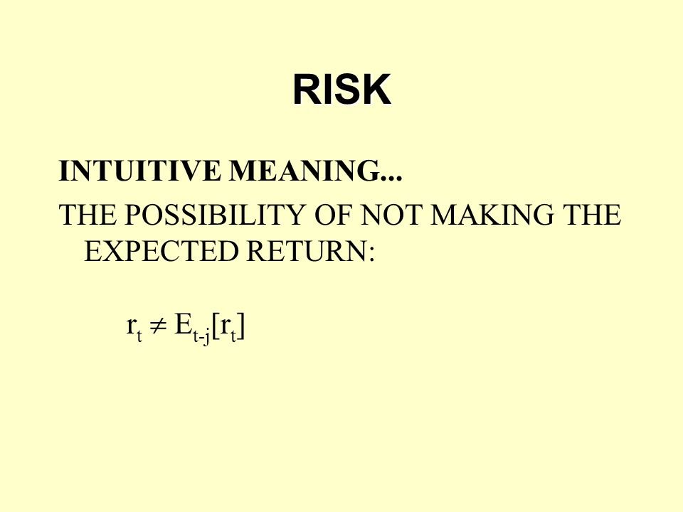RISK INTUITIVE MEANING...