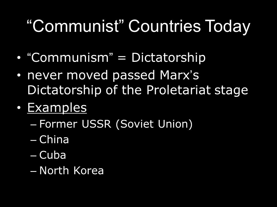 Communist Countries Today