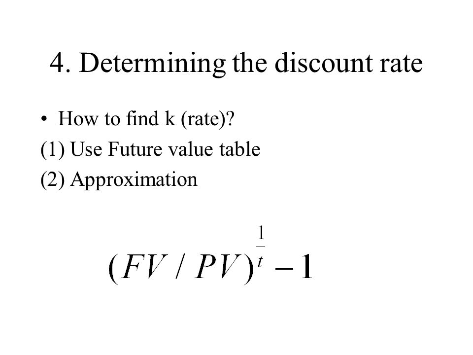 4. Determining the discount rate