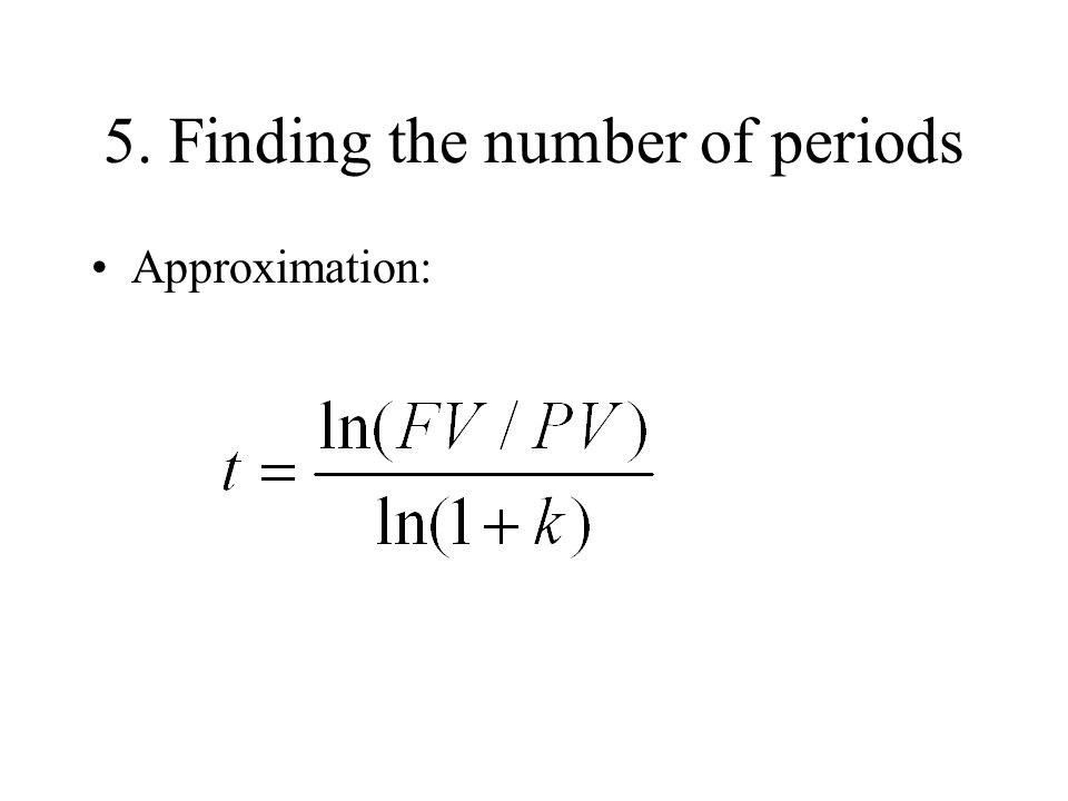 5. Finding the number of periods
