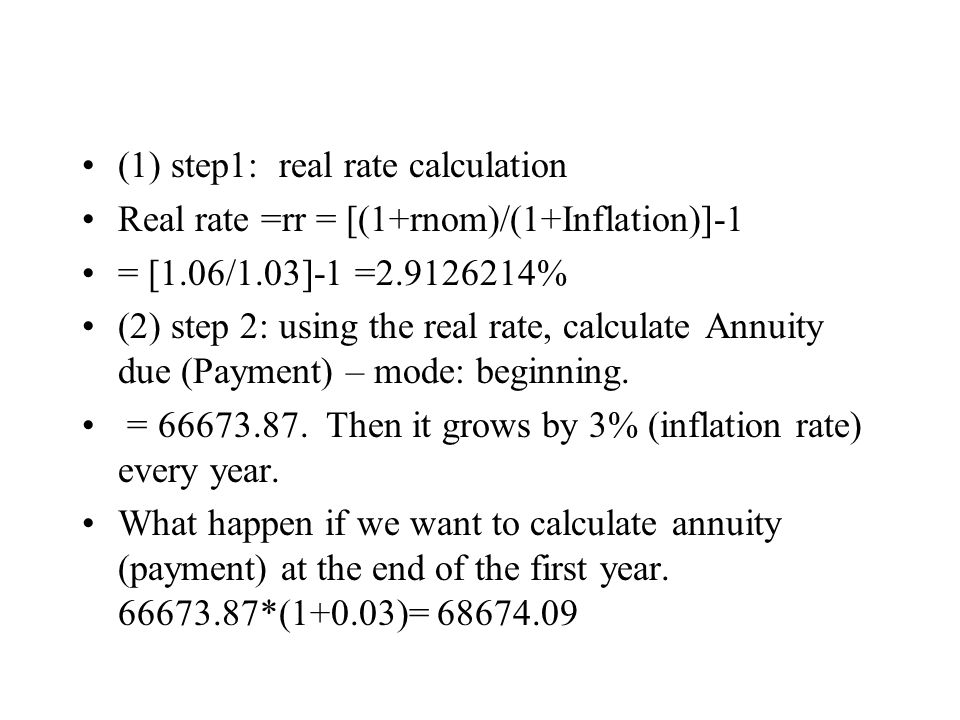 (1) step1: real rate calculation
