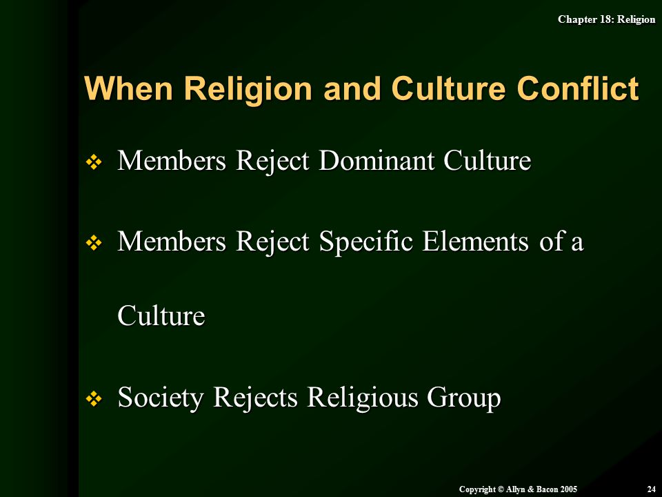 When Religion and Culture Conflict