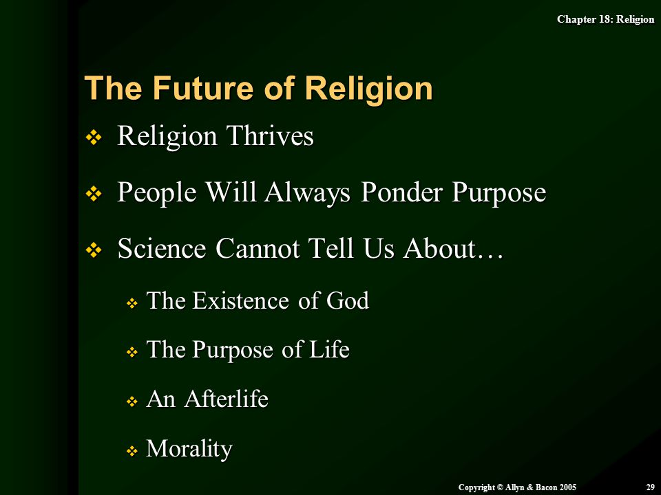 The Future of Religion Religion Thrives