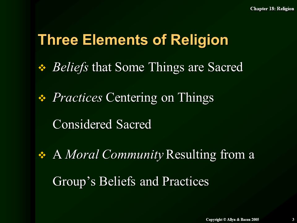 Three Elements of Religion