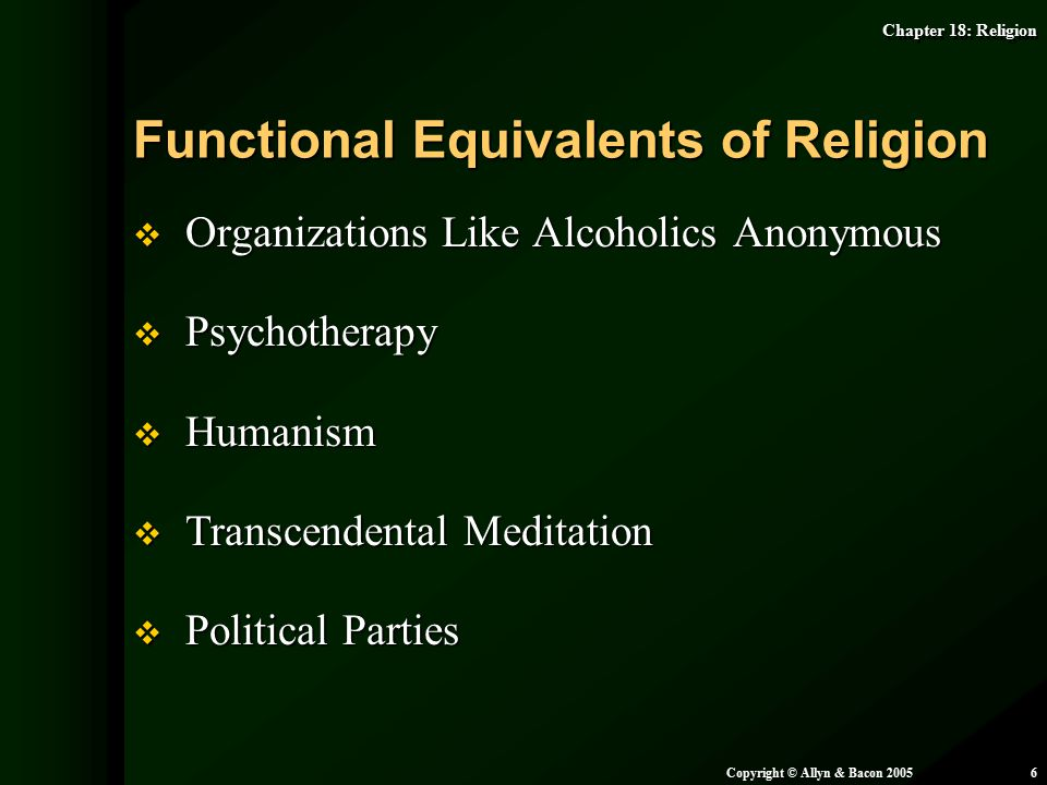 Functional Equivalents of Religion