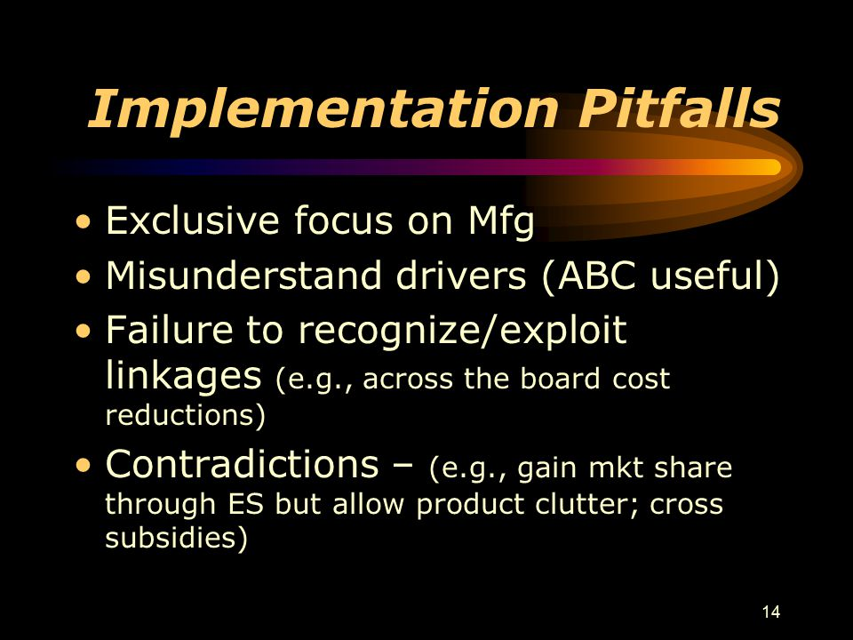 Implementation Pitfalls