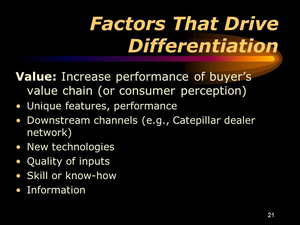 Factors That Drive Differentiation