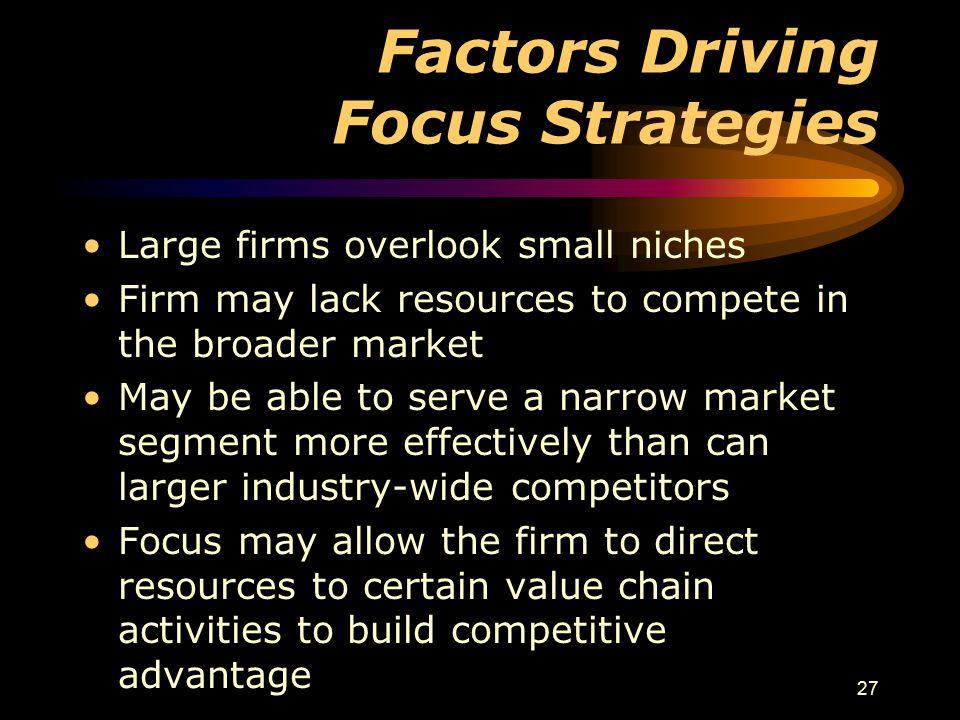 Factors Driving Focus Strategies