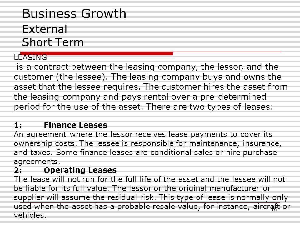 Business Growth External Short Term
