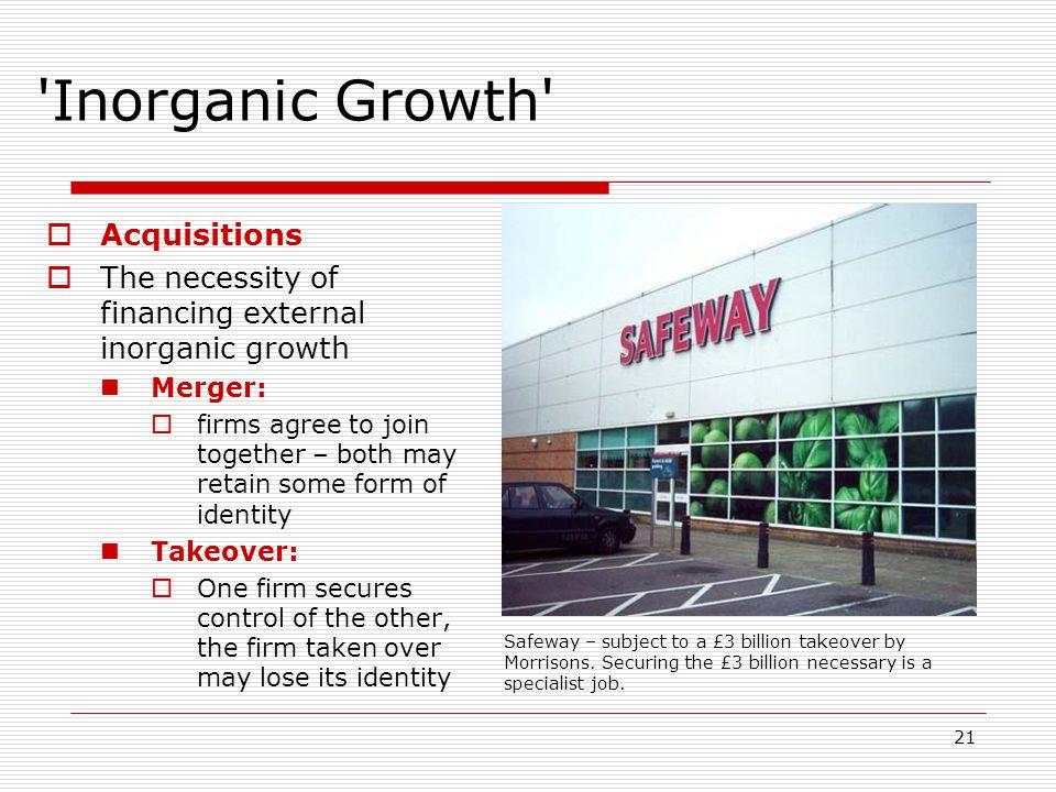 Inorganic Growth Acquisitions