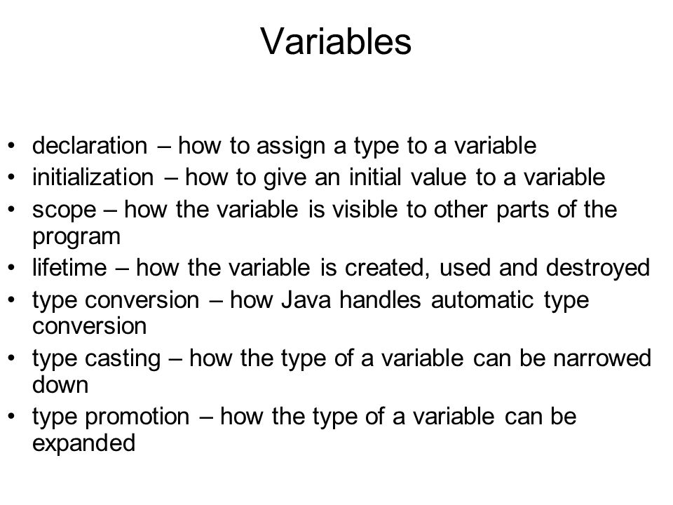 Variables declaration – how to assign a type to a variable