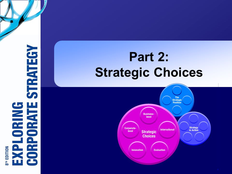 Part 2: Strategic Choices