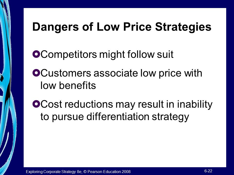Dangers of Low Price Strategies