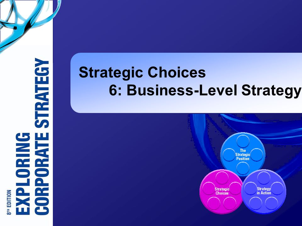 Strategic Choices 6: Business-Level Strategy