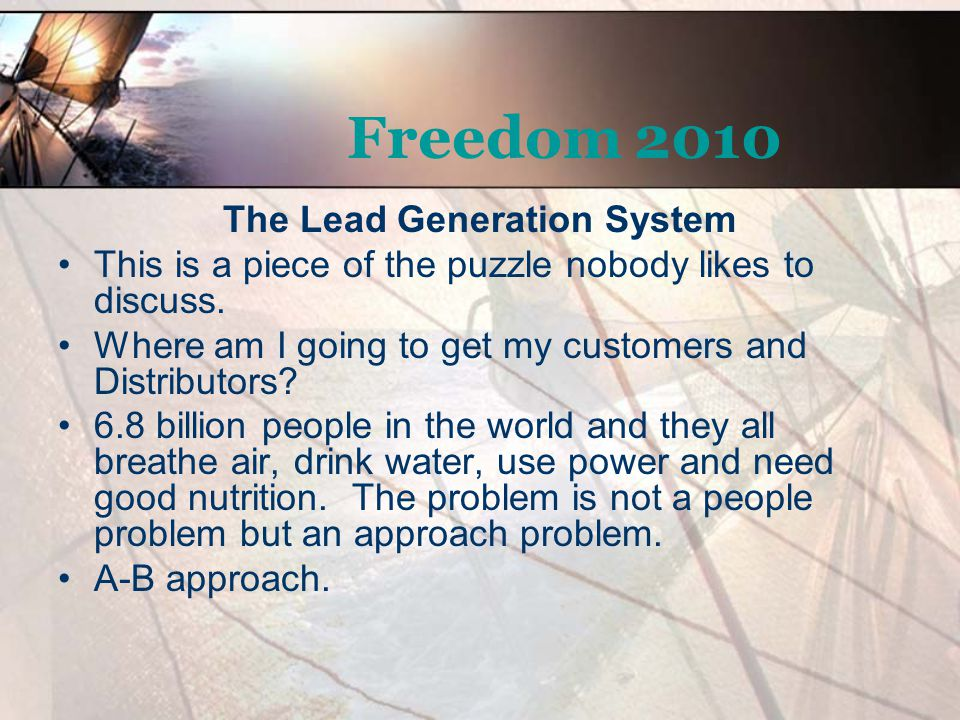 The Lead Generation System