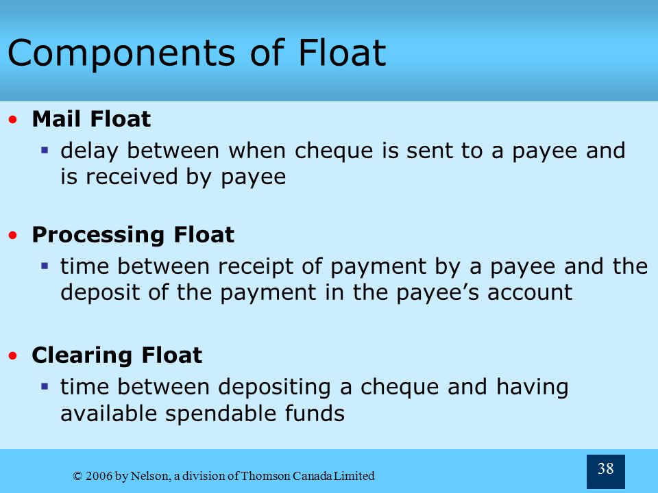 Components of Float Mail Float