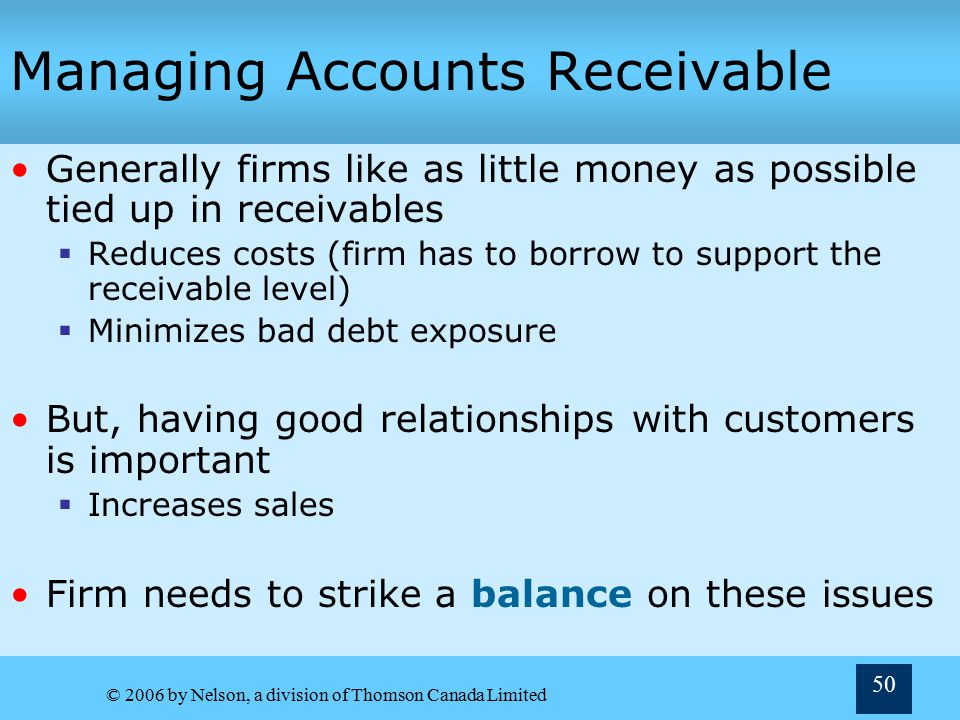 Managing Accounts Receivable
